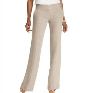 LOFT Tan Linen Julie Trousers